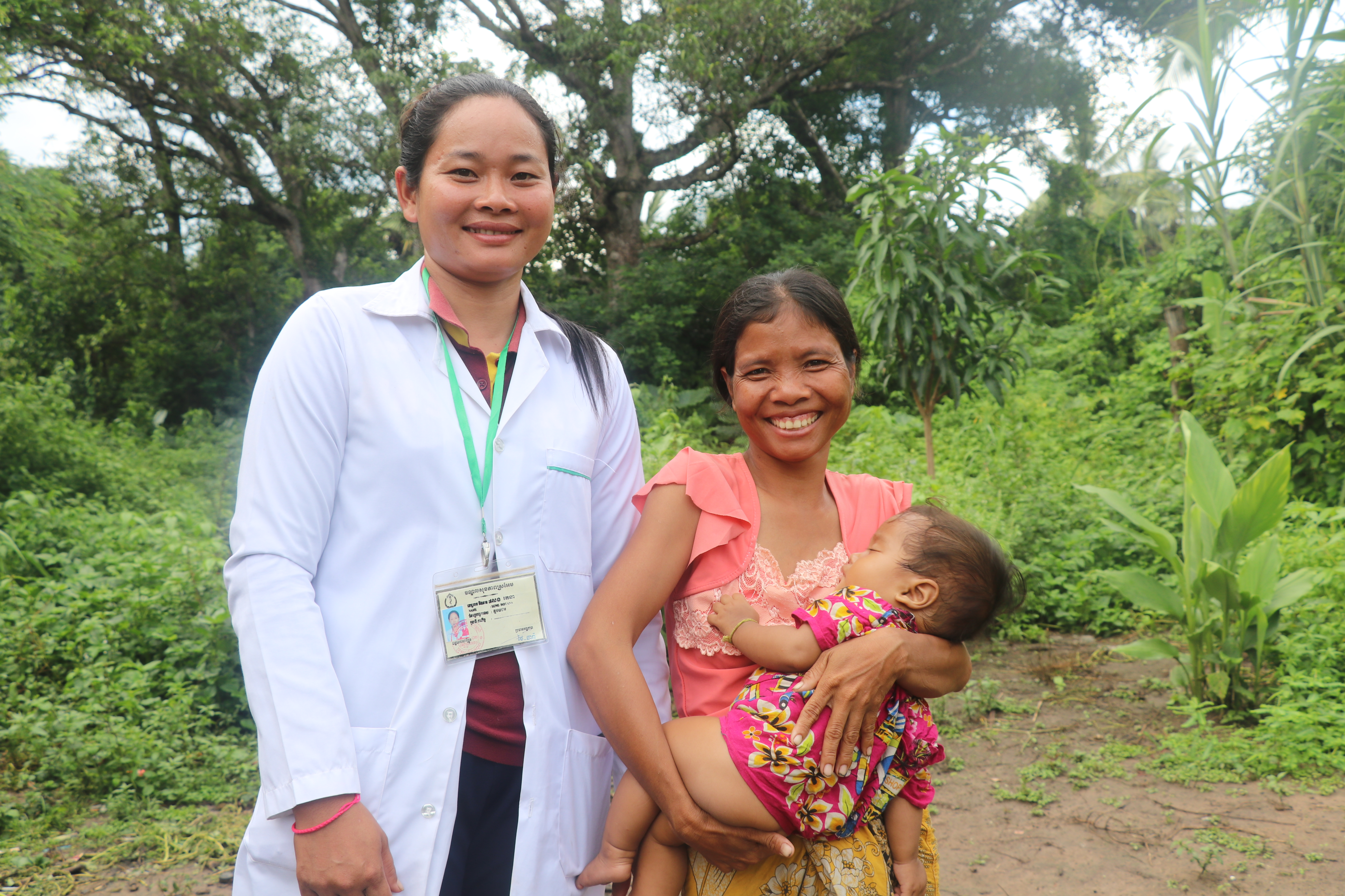 Ratna visits Bora regularly at her home to give advice on health-related care and emotional support
