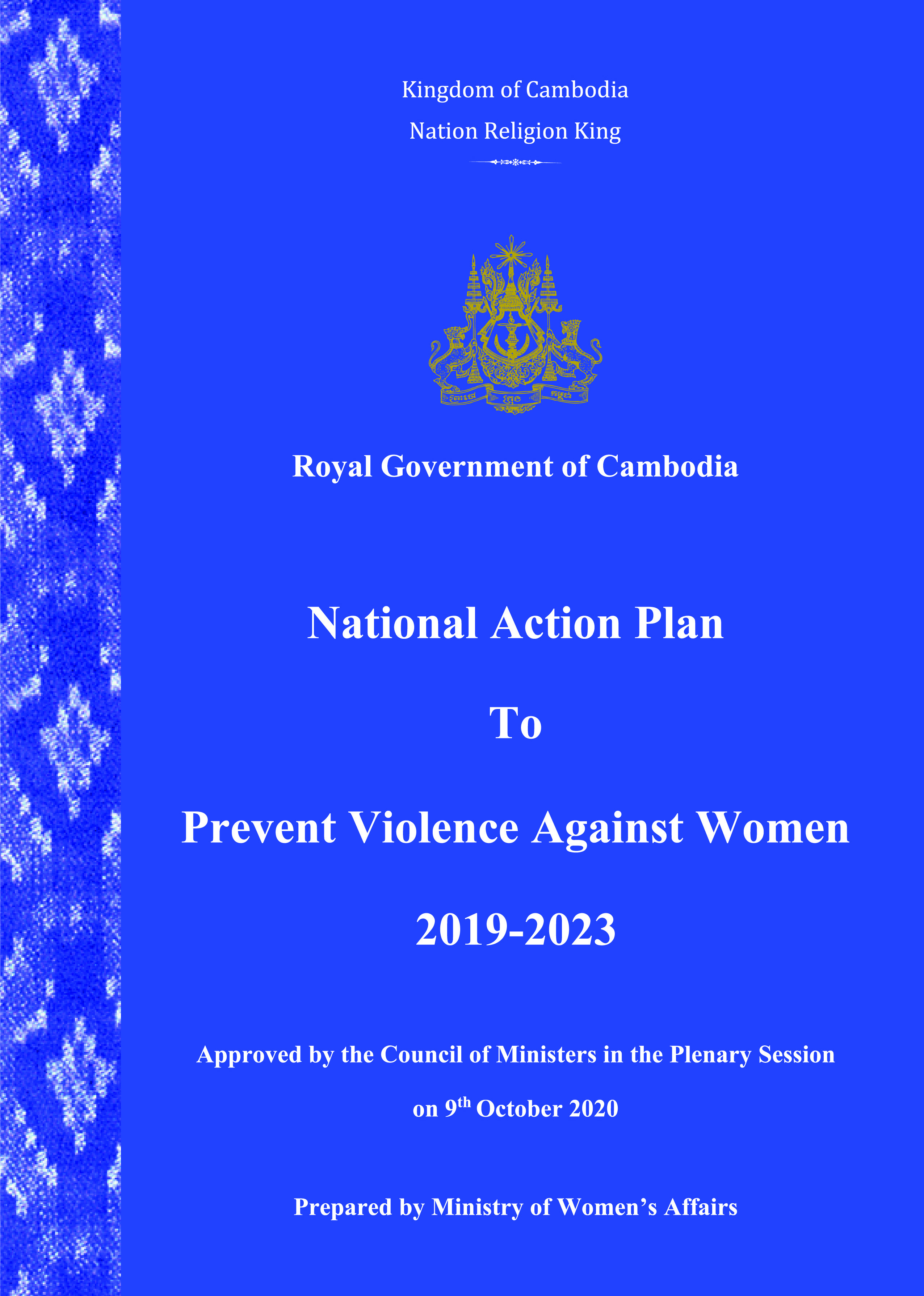National Action Plan to Prevent Violence Against Women 2019-2023