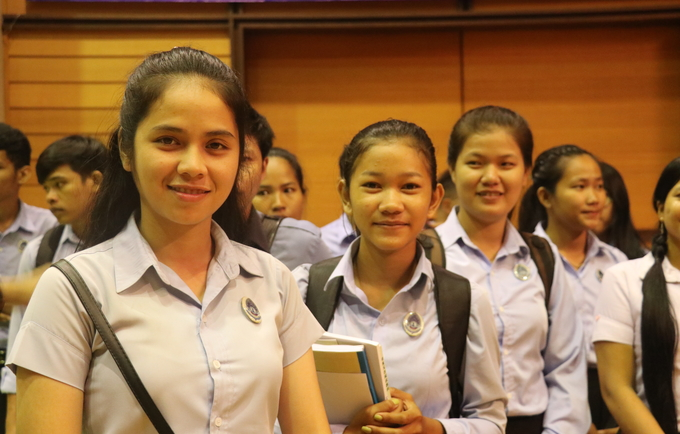 "Students show up at the event to celebrate World Population Day, themed ""Family Planning is a human right"""